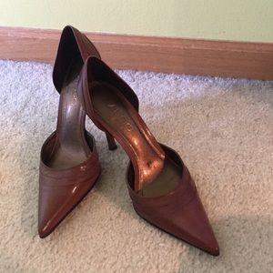 ALDO brown leather heels